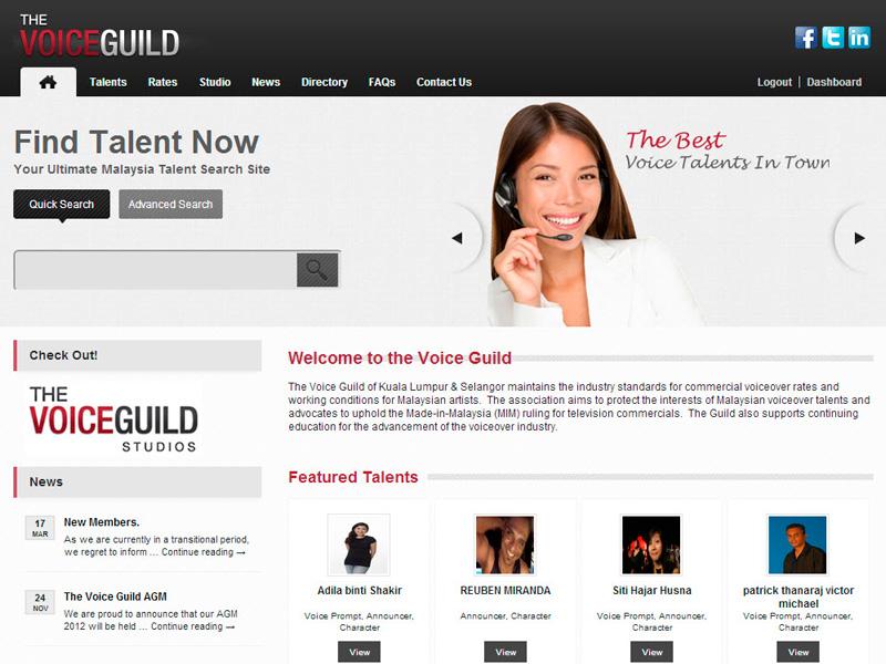 The Voice Guild Website